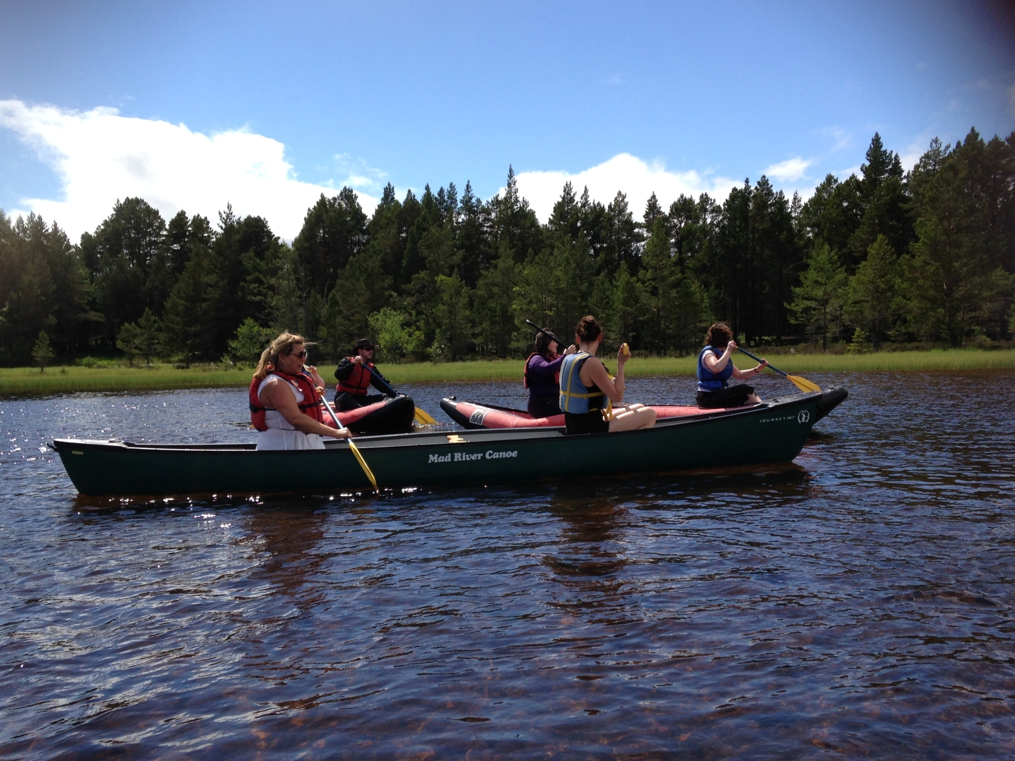 OPTIMA canoeing at Loch Morlich